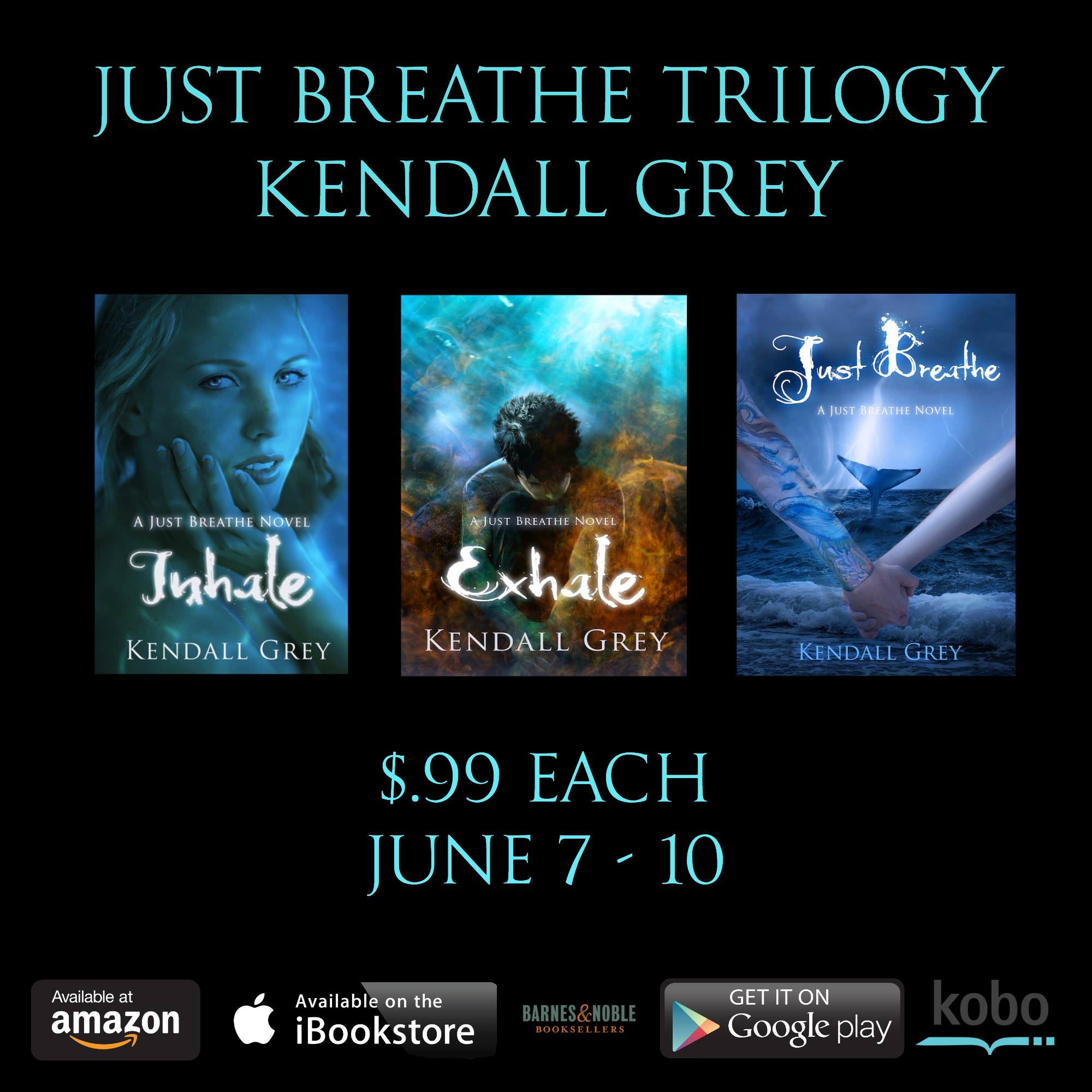 Kendall Grey's Just Breathe Series is on Sale!